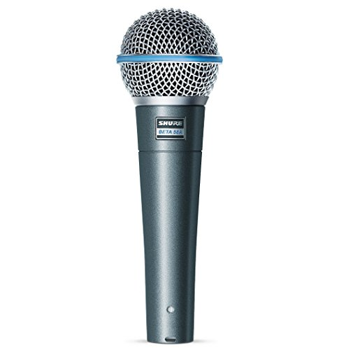 Shure BETA 58A Supercardioid Dynamic Microphone with High Output Neodymium Element for...