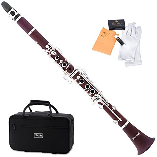 Mendini MCT-30 Intermediate Solid Rosewood B Flat Clarinet