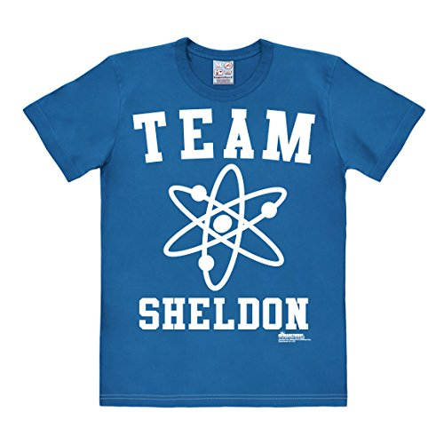 Logoshirt T-Shirt Equipe Sheldon - Genio - Maglia Big Bang Theory - Team Sheldon - Maglietta Girocollo Azzurro - Design Originale Concesso su Licenza, Taglia M