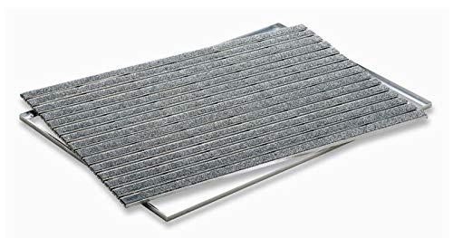 ACO Self® Schuhabstreifer Rips Grau mit Alu Winkelrahmen 75 cm x 50 cm (B x H)