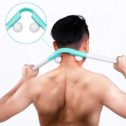 Nackenmassagegerät Manuelle  - Nacken Massagestäbchen Manuelle Triggerpunkt Massagegerät für Nacken, Schulter, Finger Zuhause, Büro