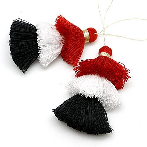 Pendientes de 75 mm de varios colores de gamuza para llavero, correas para teléfonos móviles, joyas, colgantes, borlas para hacer joyas, accesorios de bricolaje (color: 75 mm)