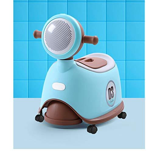 ADM6 My Size Potty, con la Musica di Estrazione Potty Facile da Pulire con Ruote Facile da spostare con braccioli Bambino Assisted Vasino, Divertimento Scooter Style,Blu