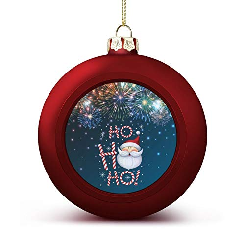 MOEEZE Christmas Balls H-o H-o H-o Santa Xmas Ball Ornaments Lightweight Hanging Balls Tree Decorations