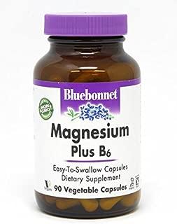 BlueBonnet Magnesium Plus B-6 Vegetarian Capsules, 90 Count