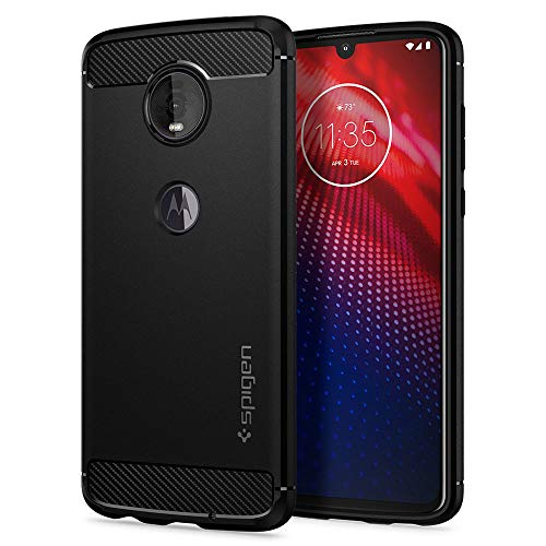 Spigen Rugged Armor Designed for Moto Z4 Case (2019) - Matte Black