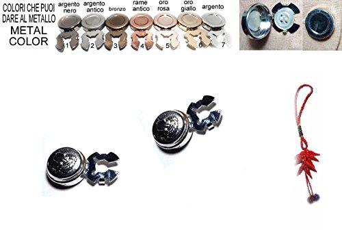 Artesanal 1 par de cubrebotones de 15 mm para Perros ingleses en el Centro escogidos Color Metal Cubre Botones para Camisas Mujer o muñecas Joyas Hombre de Regalo Llavero