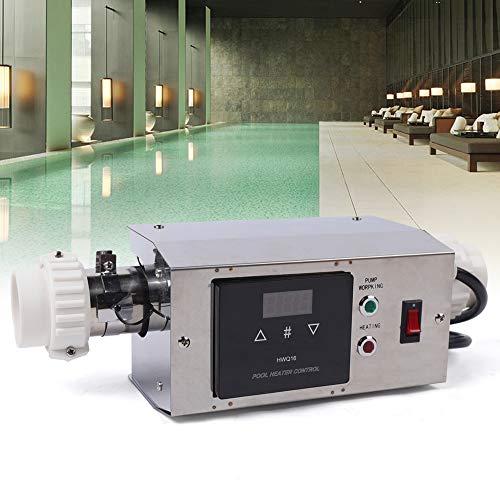 Aohuada Flybear - Calefactor eléctrico para piscina, 220 V, 3 kW, termostato de piscina impermeable, regulador de temperatura SPA