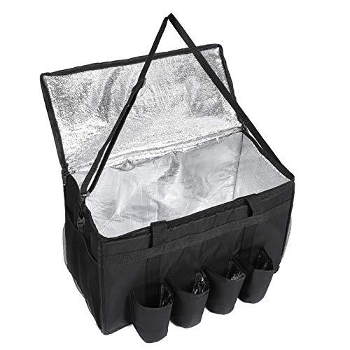 DELEBAO Kühltasche Lunchtasche Lieferung Tasche Pizza Taschen Picknicktasche Isolierte Faltbare Thermobeutel Mittagessen Isoliertasche 61 Liter