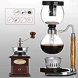 Manual Coffee Grinder -Siphon Cafetera Conjunto Sifón vaca del zodiaco Totem Sifón Cafetera 3 tazas de café al vacío Haike máquinas WTZ012
