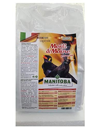 Manitoba MANGIME Completo kg. 1 per Uccelli INSETTIVORI MERLI E Maine