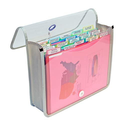 Ultimate Office PortaFile Expanding File Wallet Document Organizer. Complete File Management System Includes 25 Removable PocketFile File Folders and 6 Color File Rings for Fast File Identification