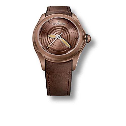Corum orologio da uomo Heritage marrone cinturino in pelle automatico...
