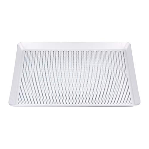 Baking Pan,Laiashley Professional Perforated Aluminum Baking Sheet Pan, Rectangular Perforated Baking Tray