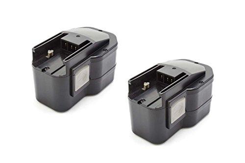 vhbw 2X NiMH Batterie 1500mAh (14.4V) pour Outil électrique Outil Powertools Tools Milwaukee PJX 14.4 Power Plus, PLD 14.4 X, PN 14.4 Power Plus