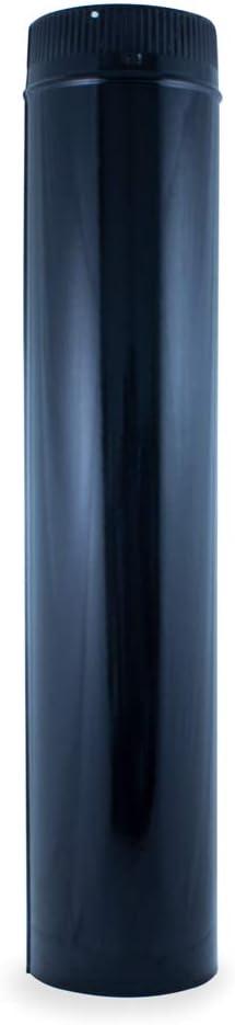vitrificado para chimeneas y estufas de le/ña y pellet Tubo de 1m 100 mm cualquier di/ámetro autoconectables.