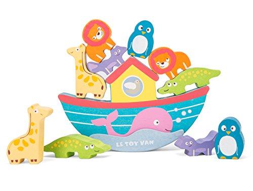 Le Toy Van – Pädagogisches Stapel- und Balancespiel aus Holz | Sensorisches Montessori-Lernspielzeug für Babys und Kleinkinder – Geeignet für Kinder ab 12 Monaten, TV214
