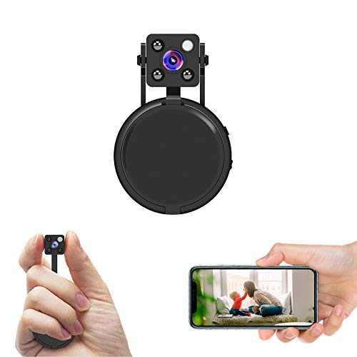 HD 1080P Mini Spy Hidden Camera ,Mini Hidden WiFi Camera with Wireless Live Streaming,Hidden Camera WiFi with Motion Detection and Night Vision(with Free APP)