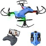 Drone Pieghevole con Telecamera Posizionamento Preciso del Flusso Ottico 720p WiFi FPV Por...
