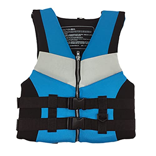 Q-YR Chaleco Salvavidas Adulto Profesional Portátil Natación Flotabilidad Chaleco Ajustable para Agua, Bote A Motor, Pesca, Snorkeling,Azul,M