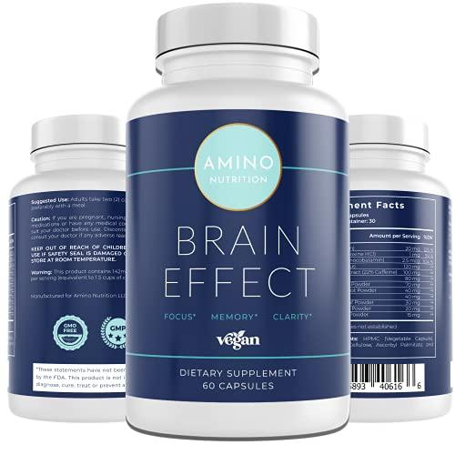 Brain Booster Supplement - Brain Focus Nootropics - Enhanced Memory - Clarity - Mood - Developed by Mental Health Professionals - Ginkgo Biloba, Bacopa Monnieri, Iq Neuro - Vegan - Gluten Free