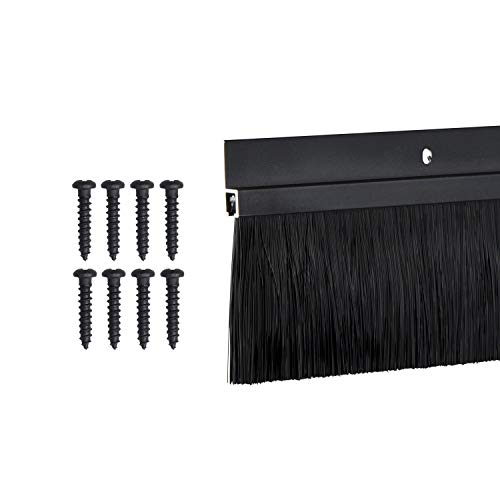 TMH Door Brush Sweep - 2 Inch Brush x 60 Inches Long, Dark Bronze (Black)