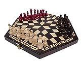 3 Tres Jugadores Juego De Ajedrez - PEQUEÑO - REGLAS INCLUIDO