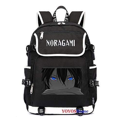 YOYOSHome Anime Noragami Cosplay Bookbag Daypack Laptop Tasche Rucksack Schultasche, 2 (Schwarz) - yyyo3