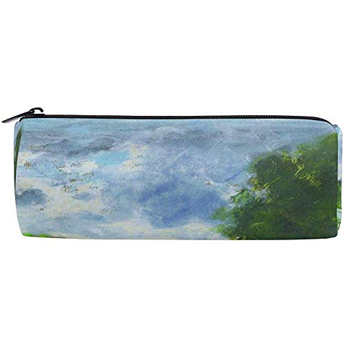Pencil Case Monet's Banken van de Seine in de buurt van Jeufosse Pen Bag Studenten Stationery Opbergtas, Make-up Pouch Portemonnee