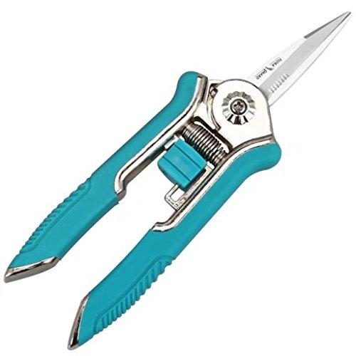 FLORA GUARD 16,5cm Micro-Tip Gartenschere Beschneiden Snip Trimmen Schere mit Edelstahl (Blau)