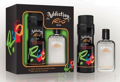 Addiction Rio Mens Gift Set - Eau de Toilette & Body Sp