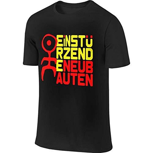 Einsturzende Neubauten Logo Shirt Hombres Camisetas de Manga Corta Tops de Cuello Redondo de Moda