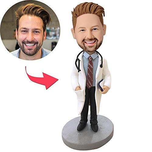 Custom Doctor Bobblehead Figurine Personalized Funny Your Photo Bobbleheads Occupational Gifts 6'