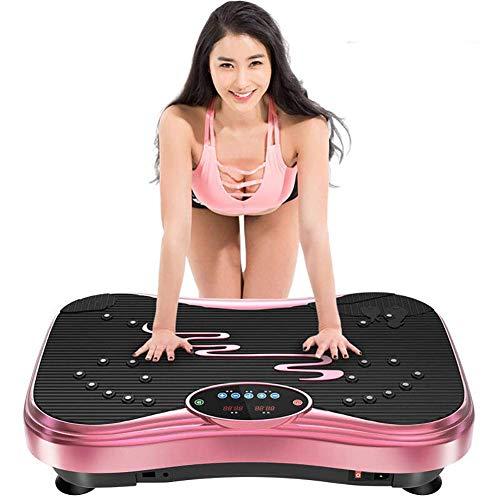 WEIZI Máquina de Ejercicios con Placa de vibración Potente oscilación del Motor Plataforma de vibración de Movimiento Ejercicio en el hogar y pérdida de Peso Masaje de Terapia magnética Control re