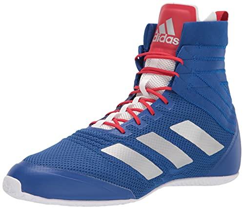 adidas Unisex Speedex 18 Boxing Shoe, Team Royal Blue/Silver Metallic/Team Collegiate Red, 10 US Men