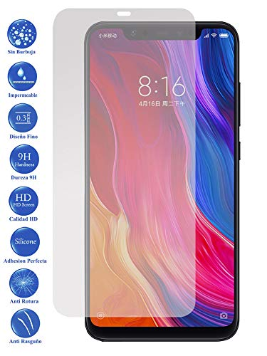 Todotumovil Protector de Pantalla Xiaomi MI8 de Cristal Templado Vidrio 9H para movil