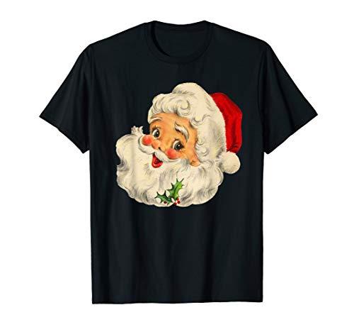 Cool Vintage Christmas Santa Claus Face T-Shirt