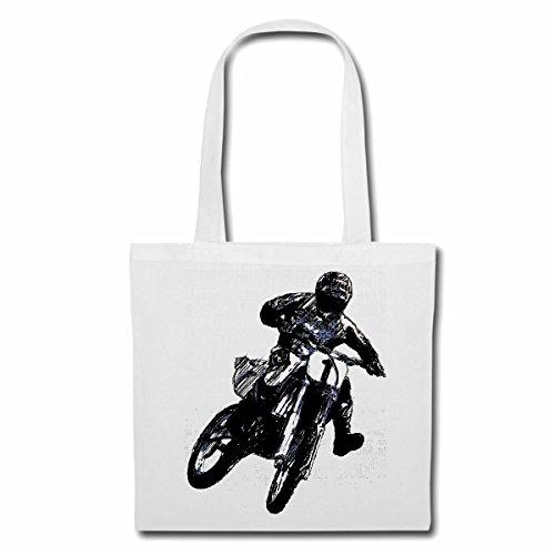 sac à bandoulière MOTOCROSS EXTREME SPORT MOTOCROSS MOTOCROSS BIKE OUTDOOR Crossbike FREESTYLE Sac Turnbeutel scolaire en blanc