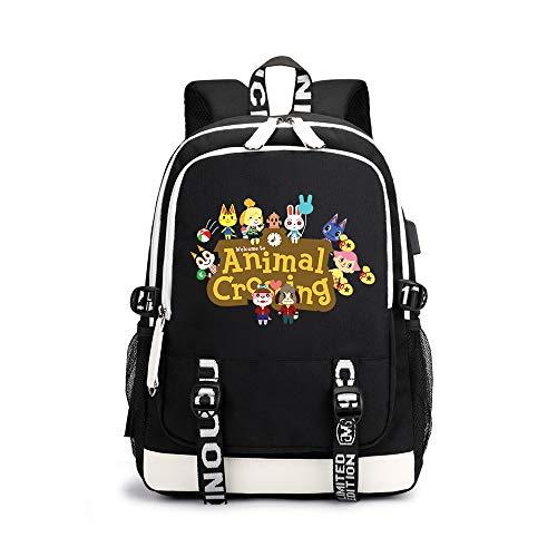 Animal Crossing Mochila Casual Mochila de imágenes de Dibujos Animados de Moda del diseño Suave Mochila Mochila Infantil for niños y niñas (Color : A12, Size : 30 X 15 X 43cm)