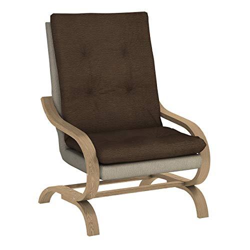 Mirjan24 Sessel Adagio Schwingsessel Relaxsessel Entspannungssessel (Halfa 160 + Halfa 150, Sonoma Eiche)