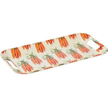 Boston International Ideal Home Range Melamine Breakfast Tray, Carrots