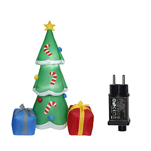 ZJL220 1,8 m modelo de árbol de Navidad con soplador de aire hinchable con luz LED para decoración de jardín para exteriores, adorno para fiestas de Navidad