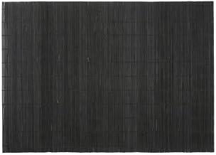 BambooMN Brand - Bamboo Placemat/Sushi Rolling Mat - 12.75 x 18.5 - Black 6 pcs