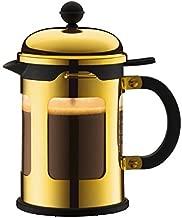 Bodum Chambord 4-Cup French Press Coffee Maker, Gold Chrome, 17-Oz.