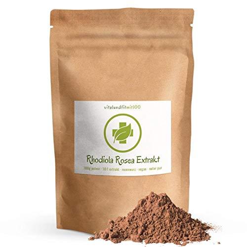 Rhodiola Rosea (Rosenwurz) - 100 g (10:1 Extrakt) -'Goldene Wurzel' - 100% vegan & pur (keine Rückstände) in Rohkostqualität - produktionsfrische Ware - glutenfrei, laktosefrei – OHNE Zusatzstoffe