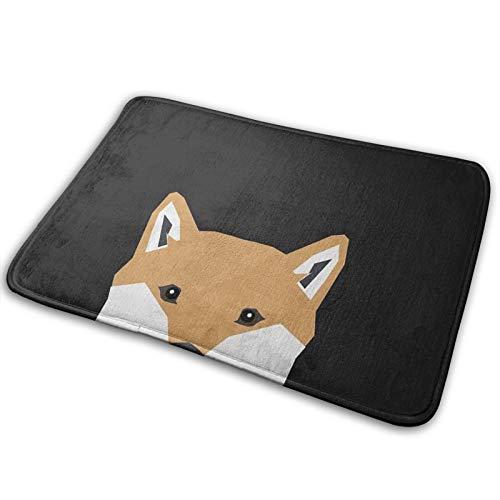 Indiana - Shiba Inu - Alfombra antideslizante de baño, diseño de regalo para amantes de perros y perros, alfombra de baño, muy suave y súper absorbente (38 x 50 cm)