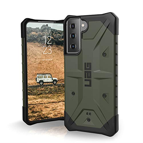 """Urban Armor Gear Pathfinder Funda Protectora Samsung Galaxy S21 5G (6,2"""") (Compatible Carga inalámbrica, Funda de estándar Militar, Parachoques Ultra Fino) - Oliva"""
