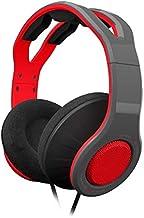 Gioteck - Pack auricular estereo con cable rojo y gris Gioteck TX-30 + funda rigida de proteccion + Kit de proteccion de p...