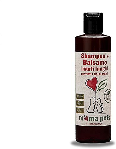 M' Ma Pets Champú + Acondicionador para Perros y Gatos - Deja el Pelo Limpio, Suave y Más Fácil de Peinar - 250 ml