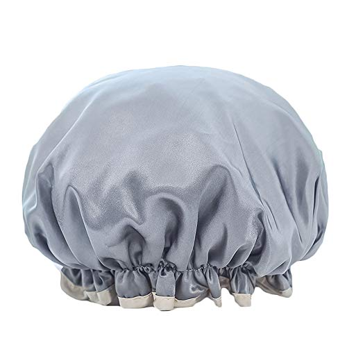 Dylandy Bonnet de douche élastique en satin imperméable pour le maquillage, le spa, la maison, l'hôtel et le salon de coiffure pour femme et fille